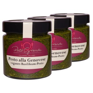 Pesto Genovese -Basilikum Pesto vegan- 3 x 160 g Trippel-Pack
