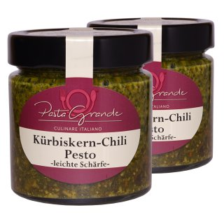 Pesto Kürbiskern-Chili 2 x 160 g Duo-Pack